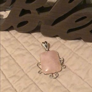 Jewelry - Sterling silver stone pendant only